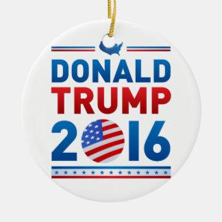 DONALD TRUMP 2016 Presidential Election Round Ceramic Ornament