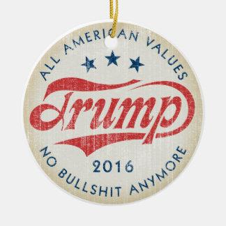 Donald Trump 2016 Round Ceramic Ornament
