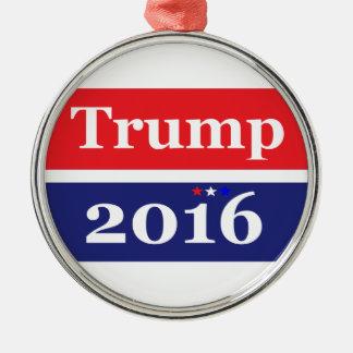 Donald Trump 2016 Silver-Colored Round Ornament