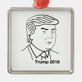 Donald Trump 2016 Silver-Colored Square Ornament