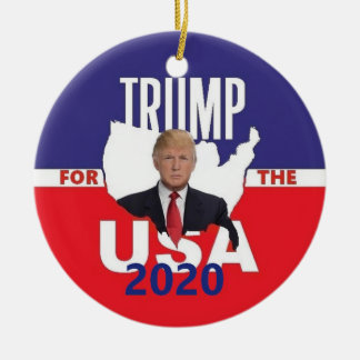 Donald TRUMP 2020 Ceramic Ornament