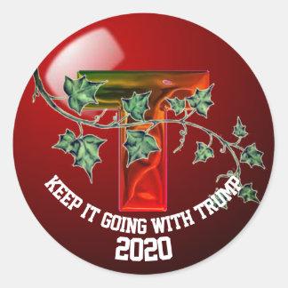 Donald Trump 2020 Classic Round Sticker