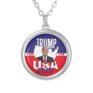 Donald TRUMP 2020 Silver Plated Necklace