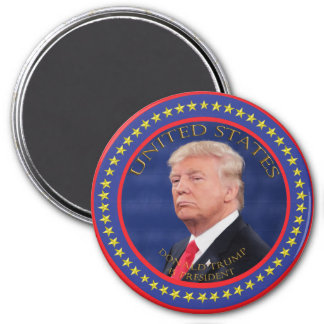 Donald Trump 45 President 3 Inch Round Magnet