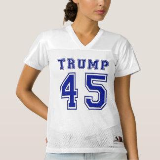 Donald Trump 45th President Blue Football Jersey