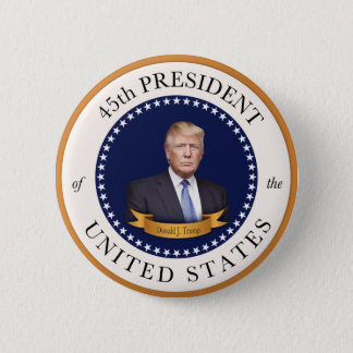 Donald Trump - 45th President of the United States 2 Inch Round Button
