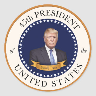 Donald Trump - 45th President of the United States Round Sticker