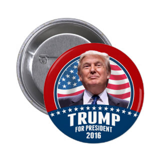 Donald Trump 4 President 2016 - Patriotic Design 2 Inch Round Button