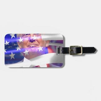 donald trump american flag bag tag