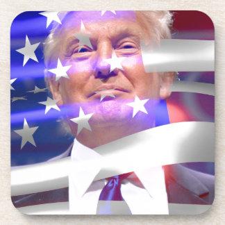 donald trump american flag coasters