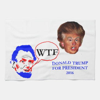 Donald Trump and Lincoln Hand Towels
