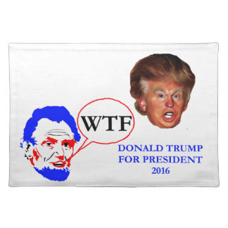 Donald Trump and Lincoln Place Mat