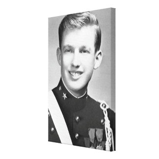 Donald Trump At The New York Military Academy Canvas Print