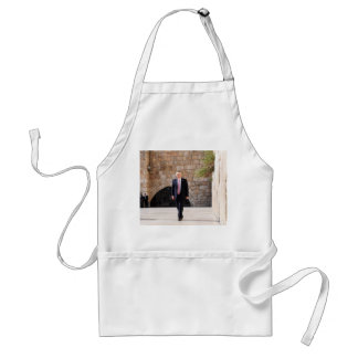 Donald Trump At Western Wall In Israel Standard Apron
