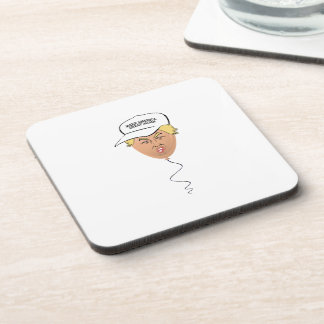 Donald Trump Balloon Hat Beverage Coasters