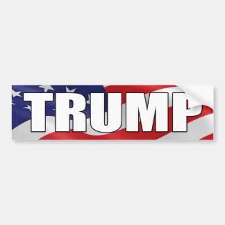 DONALD TRUMP BOLD American Flag Bumper Sticker