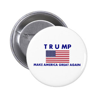 Donald Trump Campaign Button with American Flag