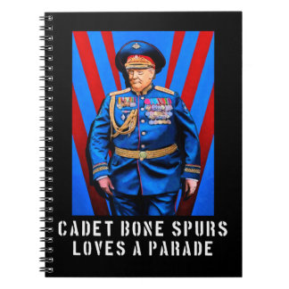 Donald Trump Caricature - Cadet Bone Spurs Notebook