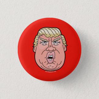 Donald Trump cartoon face 2016 button/pin 1 Inch Round Button