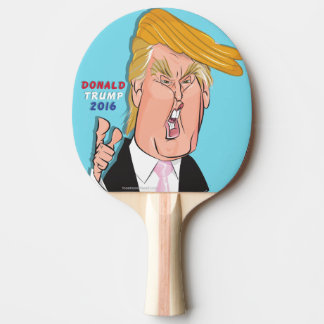 Donald Trump Cartoon Ping Pong Paddle