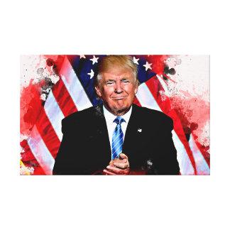 Donald Trump Celebration Poster Canvas Print