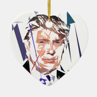 Donald Trump Ceramic Heart Ornament