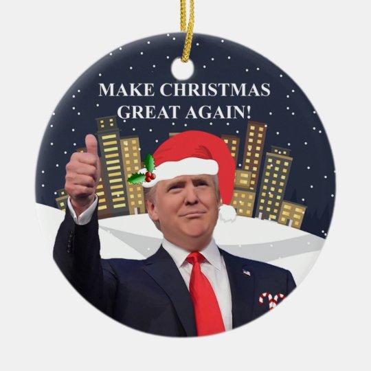Donald Trump Christmas Tree Ornament Zazzle Ca