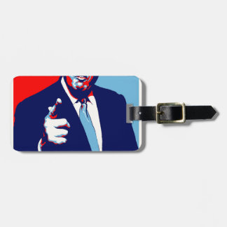 "Donald trump ""Fear"" parody poster 2017 Bag Tag"