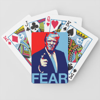 """Donald trump """"Fear"""" parody poster 2017 Bicycle Playing Cards"""