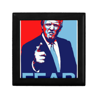 "Donald trump ""Fear"" parody poster 2017 Gift Box"