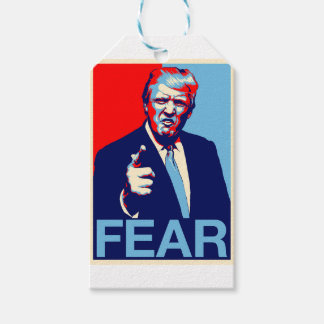 "Donald trump ""Fear"" parody poster 2017 Gift Tags"