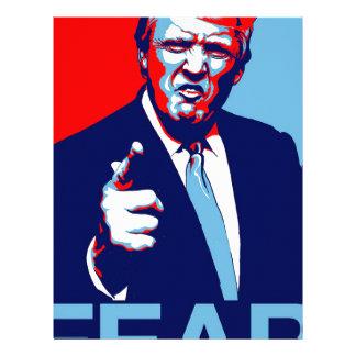 "Donald trump ""Fear"" parody poster 2017 Letterhead"