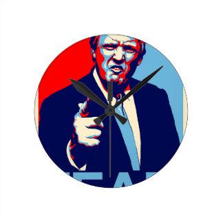 "Donald trump ""Fear"" parody poster 2017 Round Clock"