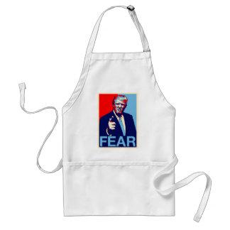 "Donald trump ""Fear"" parody poster 2017 Standard Apron"