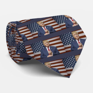 Donald Trump Flag Tie