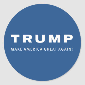 DONALD TRUMP for PRESIDENT 2016 blue STICKERS