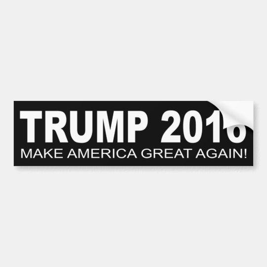 Donald Trump For President 2016 Car Bumper Sticker