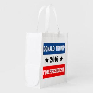 Donald Trump For President 2016 Reusable Grocery Bag