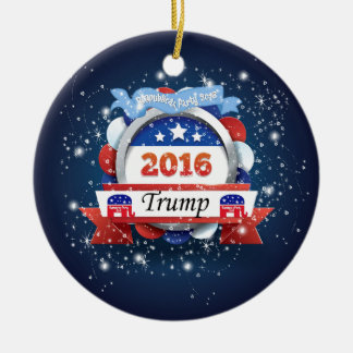 Donald Trump For President 2016 Round Ceramic Ornament