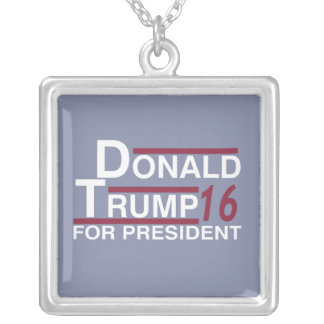 Donald Trump for president 2016 Silver Plated Necklace