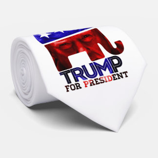 Donald Trump For President 2016 with photo Tie