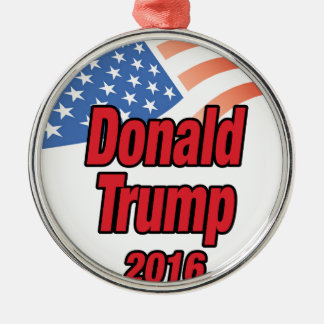 Donald Trump for president in 2016 Silver-Colored Round Ornament