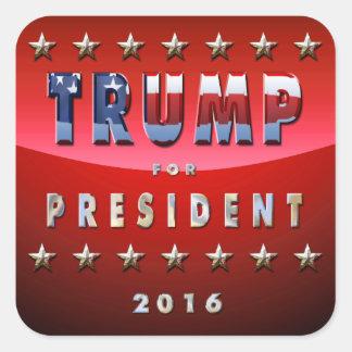 Donald Trump For President In 2016 Square Sticker