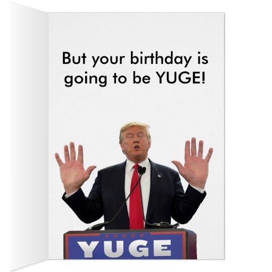 Amazon Com Funny Birthday Card Donald Trump Birthday: Donald Trump Funny Birthday Card