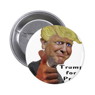 Donald Trump funny humorous product Trump for Prez 2 Inch Round Button