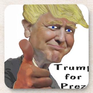 Donald Trump funny humorous product Trump for Prez Beverage Coasters
