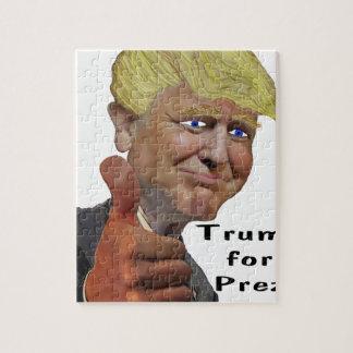 Donald Trump funny humorous product Trump for Prez Jigsaw Puzzle
