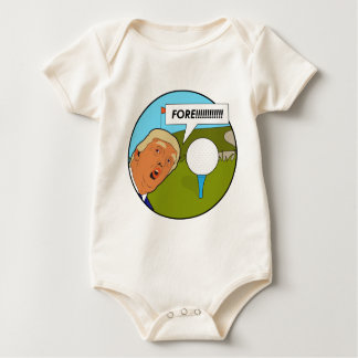 Donald Trump Golf Baby Bodysuit