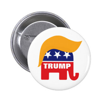 Donald Trump Hair GOP Elephant Logo 2 Inch Round Button