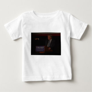Donald Trump Image Made of Dollar Signs Baby T-Shirt